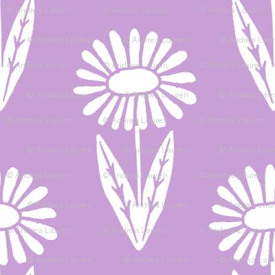 bloom // simple floral nursery crib bedding