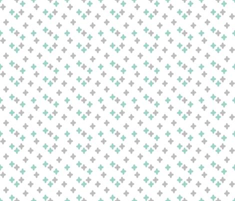 plus // mint plus sign cross pastel fabric by andrea_lauren on Spoonflower - custom fabric