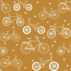 bicycles // mustard olive toasted almond bicycles eco friendly fun summer bike fabric
