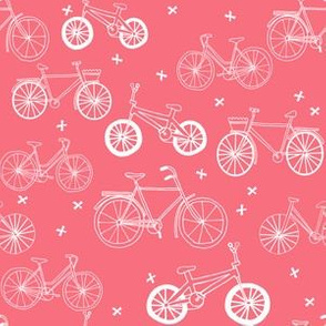 bicycles // coral girls bikes bicycles summer fun print for girls