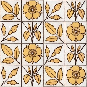 Yellow and White Floral Blocks