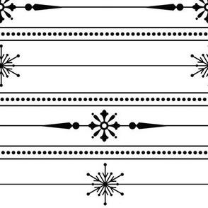 Monochrome Lines of Snowflakes