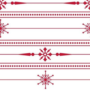 Lines of Holiday Snowflakes