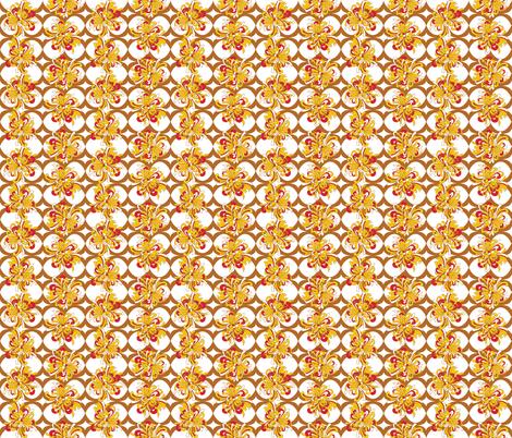 Flora_Lattice_Flowering Earth fabric by alchemiedesign on Spoonflower - custom fabric