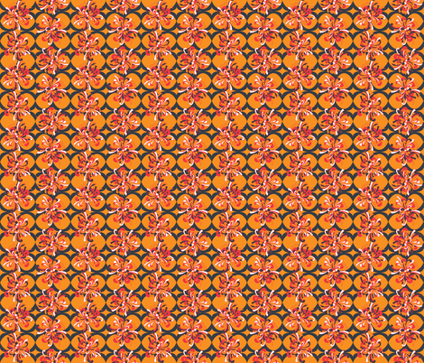 Flora_Lattice_1 fabric by alchemiedesign on Spoonflower - custom fabric