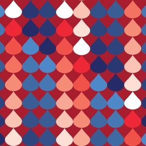 Raindrops Ombre Patriotic 2