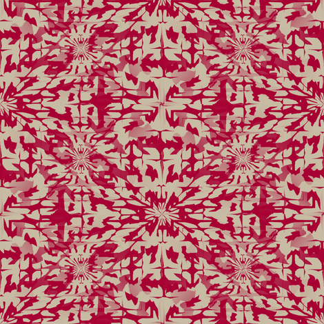 Batika (Red) fabric by david_kent_collections on Spoonflower - custom fabric
