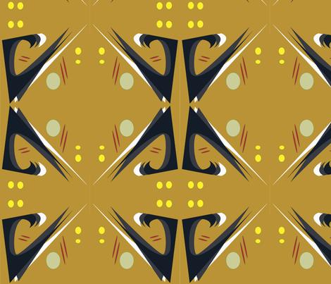 CedarWaxwing1 fabric by meric on Spoonflower - custom fabric