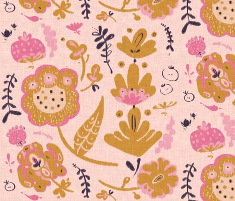 Garden party fabric fable design spoonflower for Garden party fabric by blackbird designs