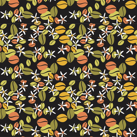 Coffee_beans fabric by malolo on Spoonflower - custom fabric