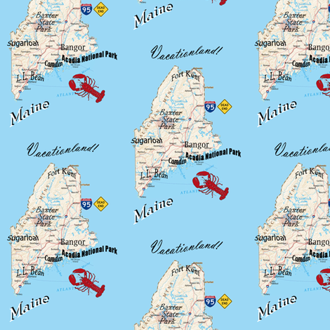 Danita's State of Mind in Maine fabric by midcoast_miscellany on Spoonflower - custom fabric