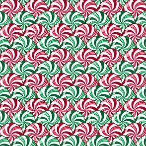 Christmas Peppermint and Wintergreen Striped Candy Scales Red Green White