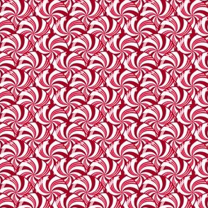 Christmas Peppermint Candy Scales Red White