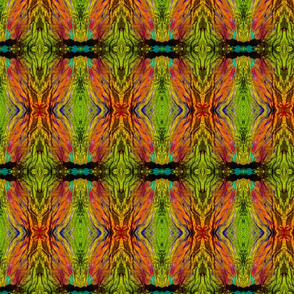 Lime Green Crinkle fabric #7
