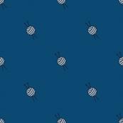 Wool Balls Spot (bluegreen knit coordinate)