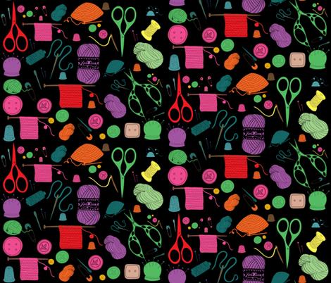 Knitting fabric by bruxamagica on Spoonflower - custom fabric