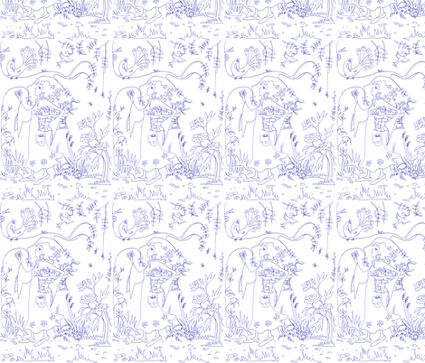 In the Garden fabric by palusalu on Spoonflower - custom fabric