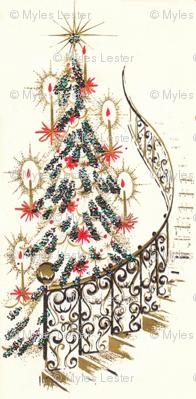 Retro Christmas Staircase
