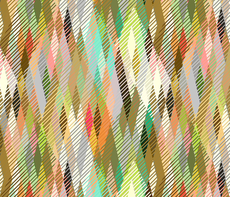 Argyle Wildness fabric by joanmclemore on Spoonflower - custom fabric
