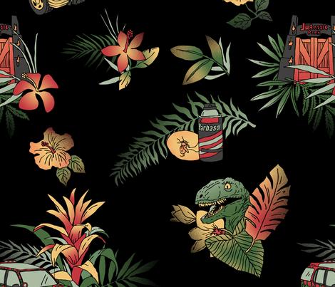 Classic Jurassic (small repeat)  fabric by joshln on Spoonflower - custom fabric