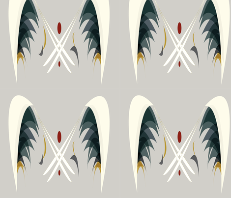 Black Crowned Night Heron fabric by meric on Spoonflower - custom fabric
