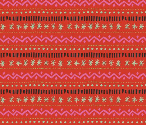 Holly Jolly Fair Isle fabric - j_e_c_scott - Spoonflower