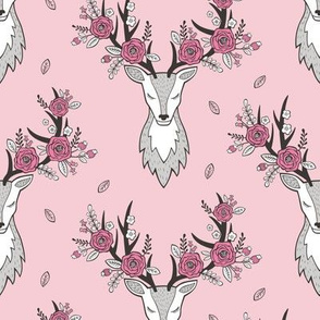 Deer Head in Pink