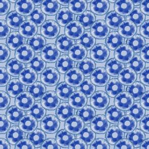 Blue Pineapple Ring Pattern
