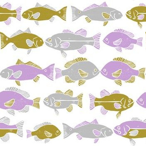ocean fish // hand drawn nautical fishing gender neutral kids nursery