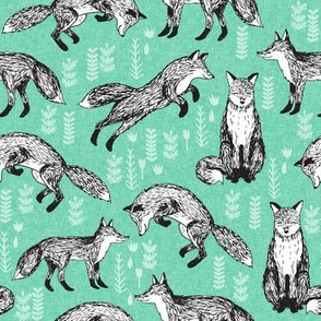 fox // woodland seafoam nursery baby kids forest