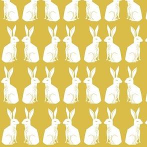 rabbit // mustard block print kids rabbits bunny