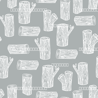 tree logs // grey white logs trees forest woodland