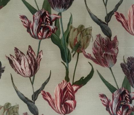 Tulip mania on a cream ground