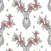 Deer Head in Grey