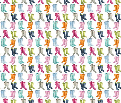 Wellies - Smaller fabric by jillbyers on Spoonflower - custom fabric