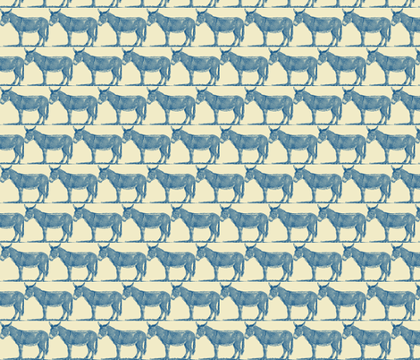 Poker Donkeys de Province fabric by amyvail on Spoonflower - custom fabric
