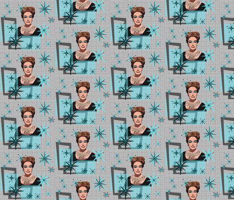 Atomic Joan - Ice Queen fabric by hollywood_royalty on Spoonflower - custom fabric