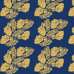 """Steak and Kale"" in Blue and Gold"