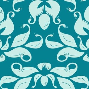family life in turquoise and teal