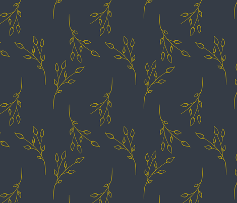 delicate gold fabric by marine-connan on Spoonflower - custom fabric