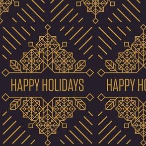Happy Holidays Art Deco Print