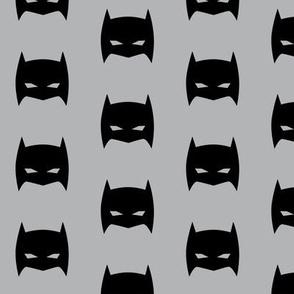 Superhero Bat Mask Gray