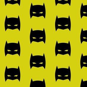 Superhero Bat Mask Citron
