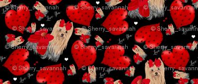 Yorkie Loves Savannah - Hearts