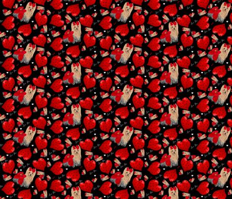 Yorkie Loves Savannah - Hearts fabric by sherry-savannah on Spoonflower - custom fabric