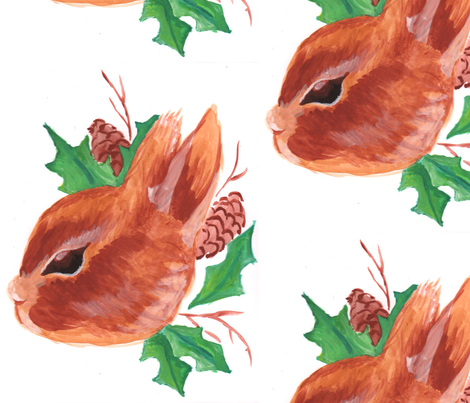 forest_bunny_character_illustration_Audie_Rose_Design fabric by audie_rose on Spoonflower - custom fabric