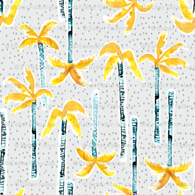 Tropicana Palms (gold/grey)