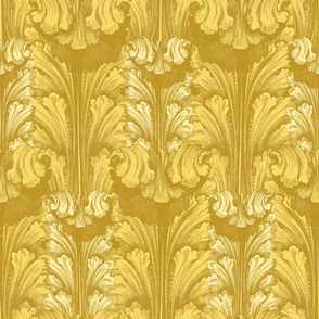 Classic Acanthus Leaves v2 Yellow Gold