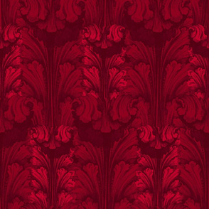 Classic Acanthus Leaves v2 Burgundy