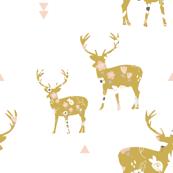 Golden floral deer